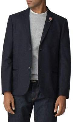 Ben Sherman Tipped Flannel Blazer
