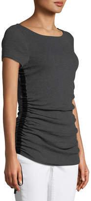 Elie Tahari Ciska Knit Ruched-Side Top