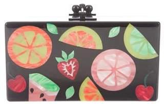 Edie Parker Fruit Print Jean Box Clutch