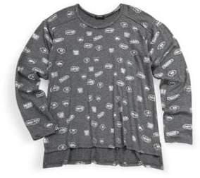 Zara Terez Girl's Pullover Graphic-Print Tee