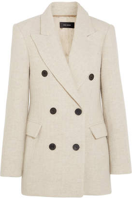 Isabel Marant Eley Wool And Alpaca-blend Coat - Ecru