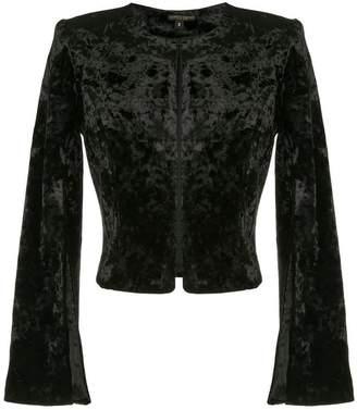 Alberto Makali cropped textured jacket