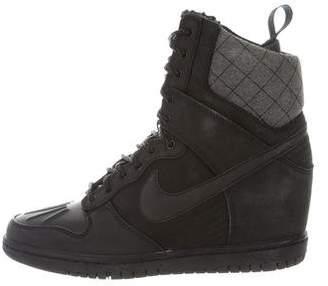 Nike Leather Wedge Sneakers