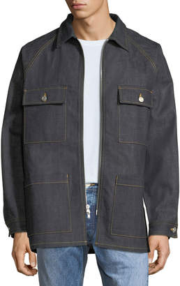 Fear Of God Men's Raw Selvedge Denim Long Jacket