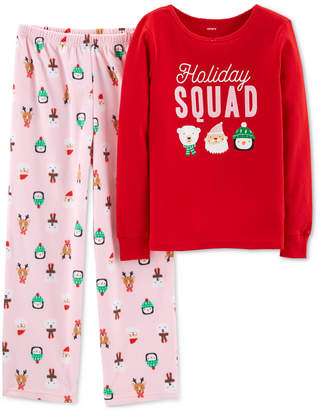 Carter's Little & Big Girls 2-Pc. Holiday Squad Pajama Set