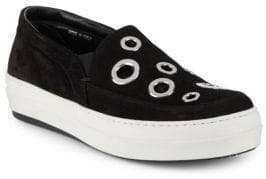 McQ Grommet-Studded Leather Shoes