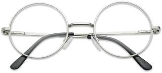 clear SunglassUP Sunglass Stop - Small Round Vintage Metal John Lennon Lens Eye Glasses (, Lens)