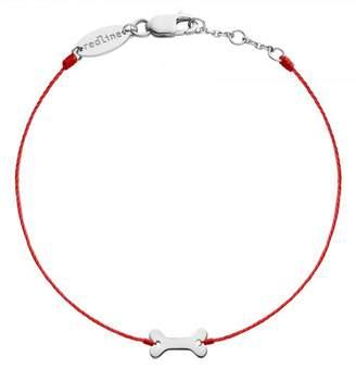 Redline Bone Red Bracelet - White Gold