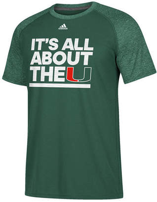 adidas Men's Miami Hurricanes Sideline Say It Loud Raglan T-Shirt