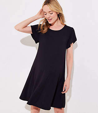 LOFT Maternity Tulip Sleeve Swing Dress