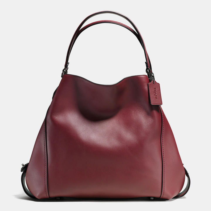 Coach   COACH Coach Edie Shoulder Bag 42 In Glovetanned Leather