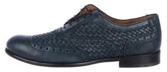 Salvatore Ferragamo Woven Leather Brogues