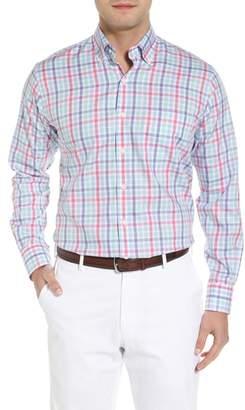 Peter Millar Crown Ease Habanero Regular Fit Check Sport Shirt