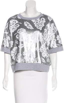 MICHAEL Michael Kors Sequined Printed Sweater w/ Tags