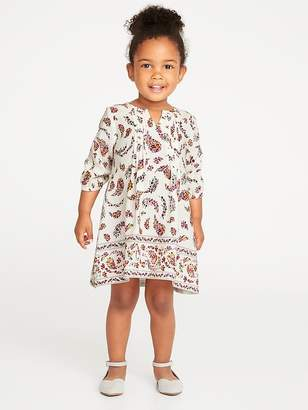Old Navy Pintuck A-Line Dress for Toddler Girls