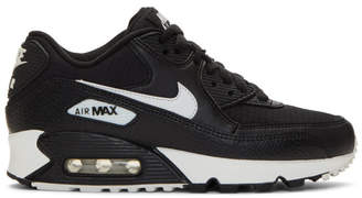 Nike Black and White Air Max 90 Sneakers