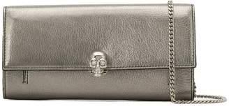 Alexander McQueen continental skull wallet