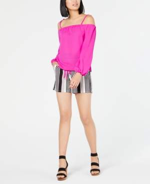 INC International Concepts I.n.c. Petite Striped Paper Bag Tie-Front Shorts, Created for Macy's