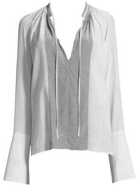 Derek Lam Silk Mixed Blouse