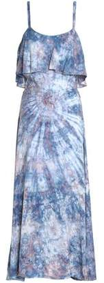 Kain Label Ruffled Tie-Dyed Crepe Maxi Dress