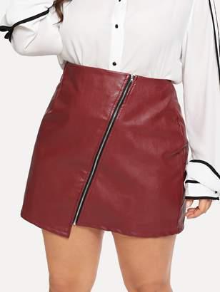 Shein Plus Zipper Decoration Skirts