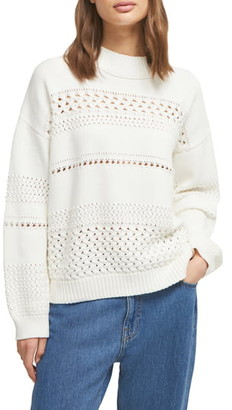 French Connection Trista Pointelle Knit Pullover