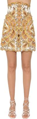 Zimmermann Zippy High Waist Linen Scallop Skirt