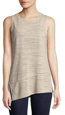 Halston H Heathered Asymmetric Tank Top