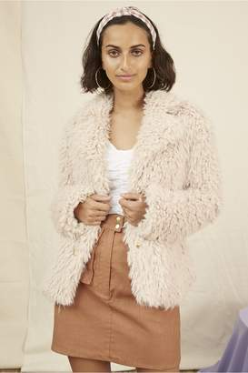 Finders Keepers BONNY FUR JACKET nude