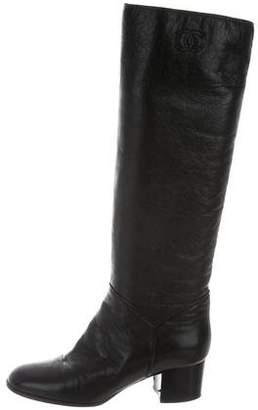 Chanel CC Mid-Calf Boots