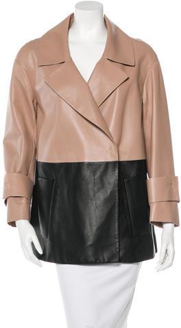 Paule KaPaule Ka Colorblock Leather Coat