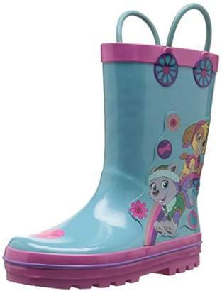 Nickelodeon Paw Patrol Girls rain Boots with Easy on Loops