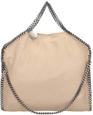 Stella McCartney Beige Faux Leather Falabella Tote Fold Over Bag 875ba67622c0d