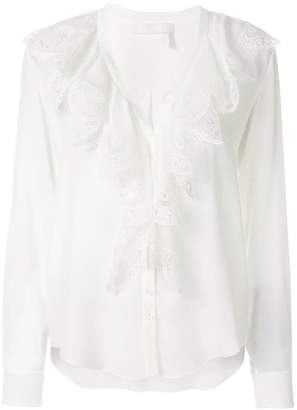 Chloé ruffled lace top