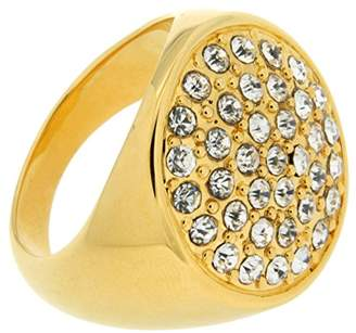 Jean Pierre Ladies 'Pave Brass Synthetic White Round Cut Diamond Ring Size N HEJR1823 17 GP