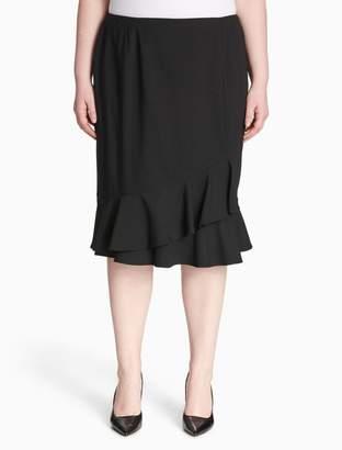 Calvin Klein plus size luxe ruffle skirt
