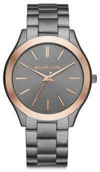 Michael Kors Slim Runway Analog Three-Link Bracelet Watch
