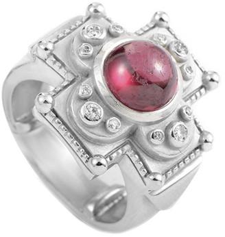 Kieselstein-Cord Heritage  18K White Gold 0.25 Ct. Tw. Diamond & Tourmaline Ring