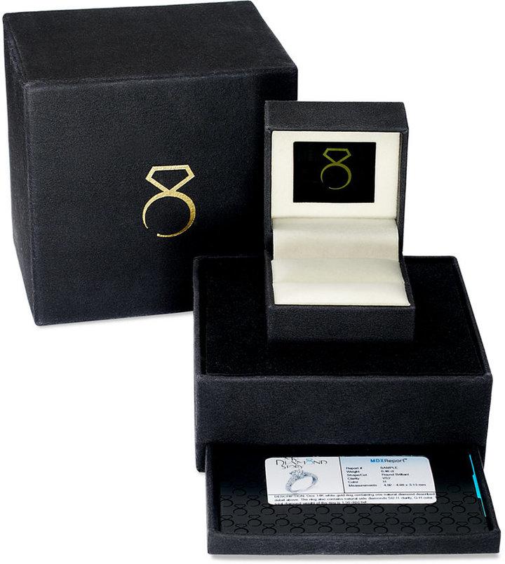 My Diamond Story Ring, 18k White Gold Certified Crisscross Diamond Engagement Ring (1-1/4 ct. t.w.)