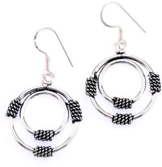 Mela Artisans Silver Coil Earrings in Sterling Silver