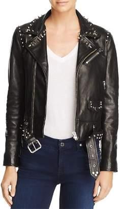 Iro . Jeans IRO.JEANS Guara Studded Leather Moto Jacket