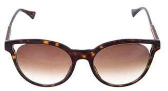Balmain Embellished Tortoiseshell Tinted Sunglasses
