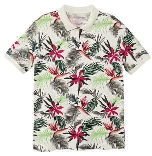 Mango Man MANGO MAN Tropical print polo shirt