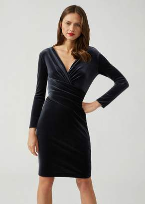 Emporio Armani Carded Chenille Dress With Front Drape Detail
