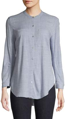 Jones New York High-Low Long-Sleeve Shirt