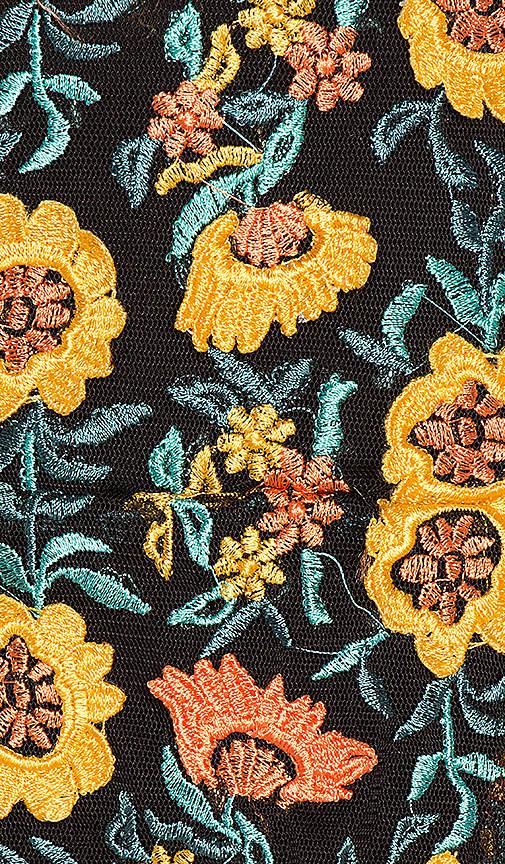 For Love & Lemons Amelia Strapless Mini Dress in Yellow 8