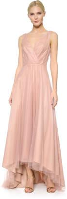 Monique Lhuillier Bridesmaids High Low Tulle Dress $290 thestylecure.com