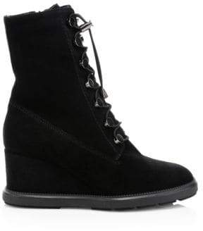 Aquatalia Campbell Suede Wedge Boots