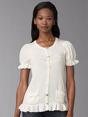 Juicy Couture Short-Sleeve Cardigan
