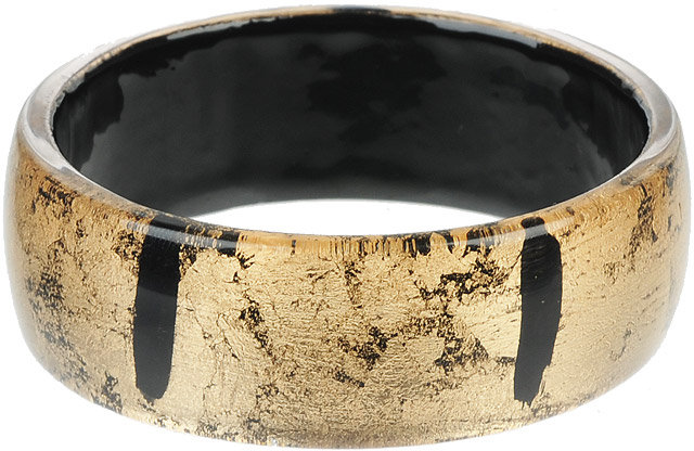 Distressed Metallic Lucite Bangle